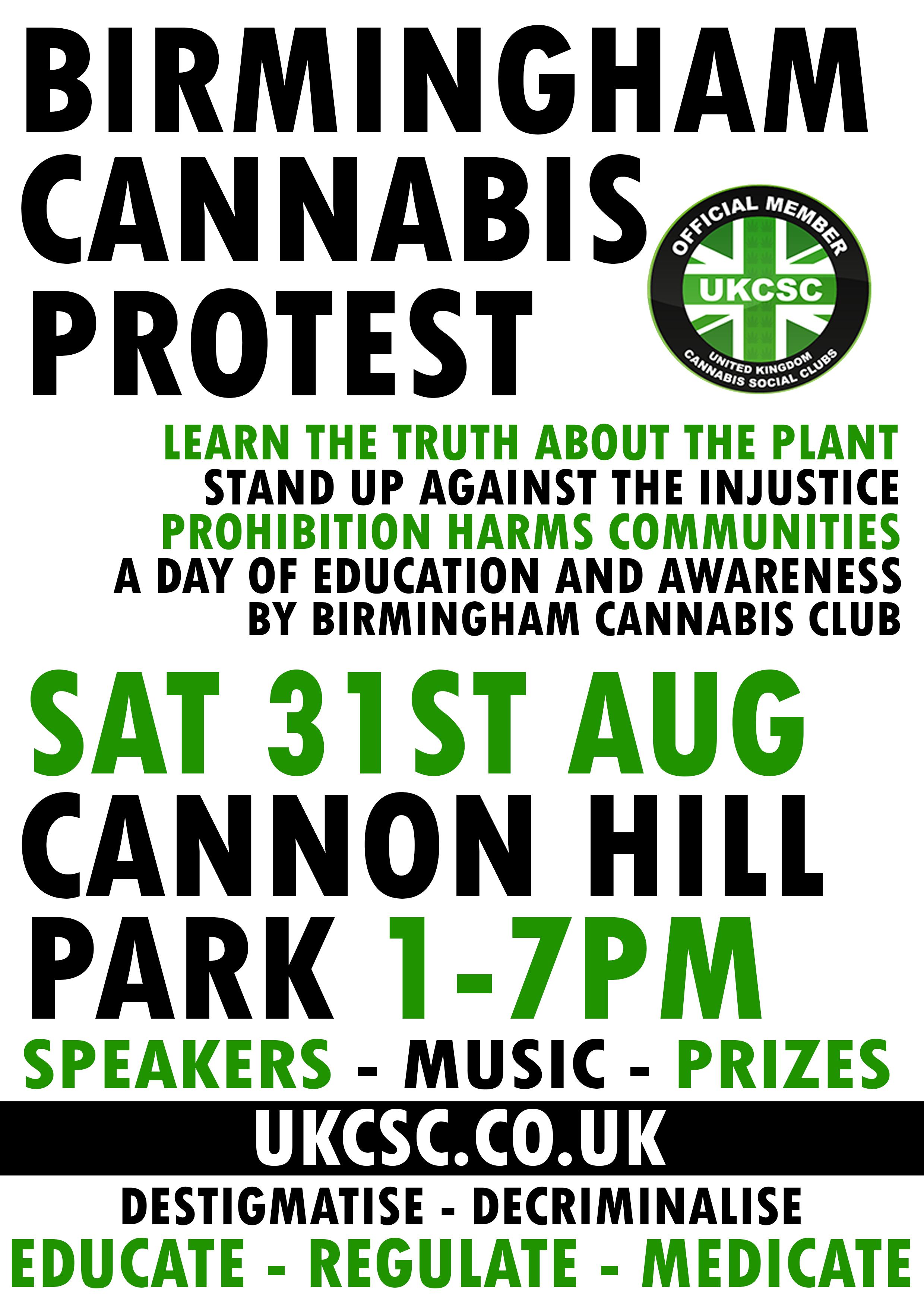 Birmingham Cannabis Protest