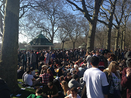 Hyde Park 2013 smoke out London Cannabis Club