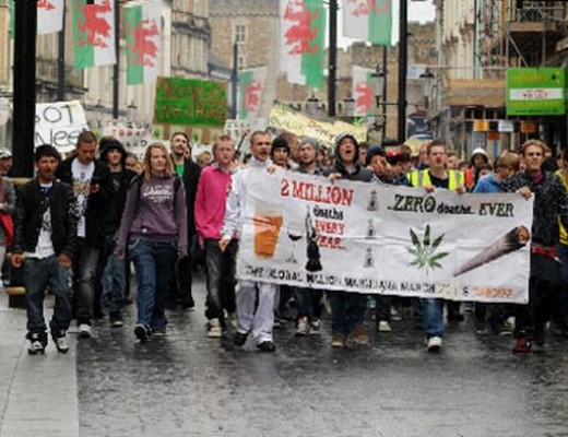 Million Marijuana March Cardiff 2013