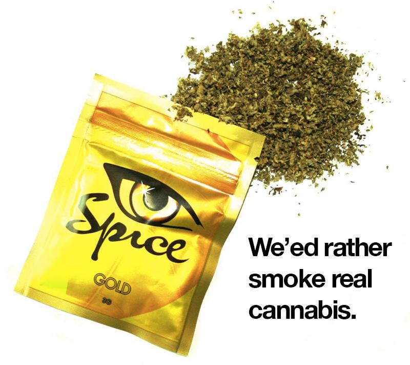 Synthetic spice vs cannabis