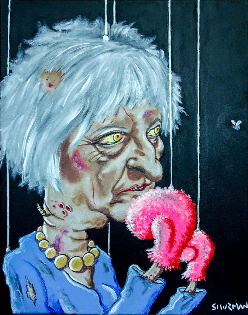 Theresa May painting.