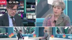 Theresa May and Robert Peston talk about cannabis.