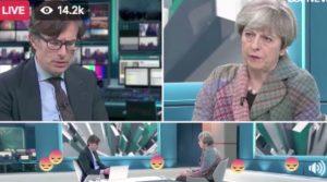 Theresa May and Robert Peston talk about cannabis.