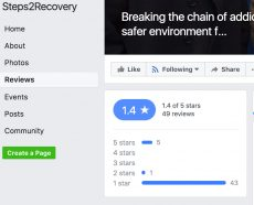 Review for drugs charity Steps2Recovery