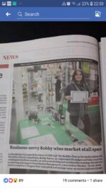 Article in the local paper about me opening up